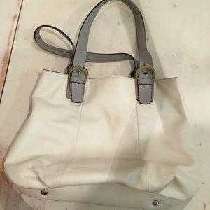 White coach purse bag